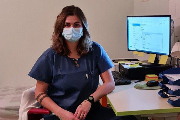 Katarína Liptáková, vedúca sestra na covidovom oddelení vo zvolenskej nemocnici.