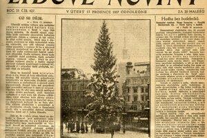 Posledný strom, ktorý básnik opísal v Lidových novinách v roku 1927.