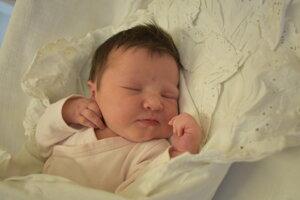 Alžbeta Hudecová (3600 g, 50 cm) sa narodila 14. decembra Júlii a Martinovi z Hornej Poruby.