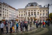 Celoplošné testovanie v Bratislave.