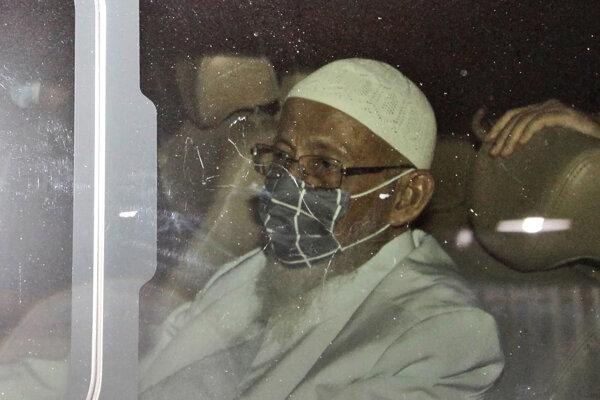 Abú Bakar Bašír po prepustení z väzenia.