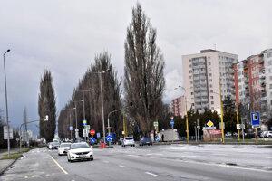 Stromy vytlačia zo Slaneckej ďalšie jazdné pruhy na frekventovanej ceste.