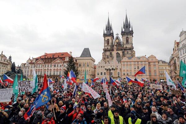 V Česku protestovali proti opatreniam.