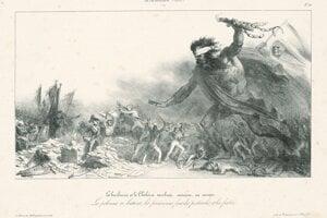 Barbarstvo a cholera na litografii Auguste Raffeta.
