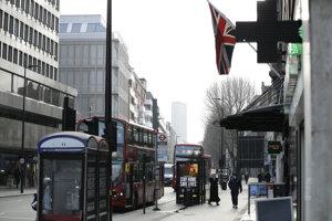 Centrum Londýna v piatok 15. januára počas lockdownu.
