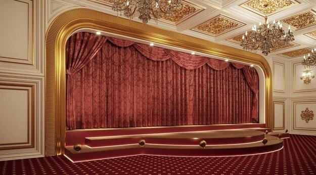 Divadlo v údajnom Putinovom sídle.