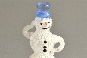 sklenený snehuliak