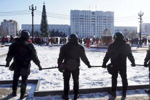 Protest a zatýkanie v Moskve.