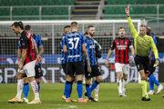 Momentka zo zápasu Inter - AC Miláno.