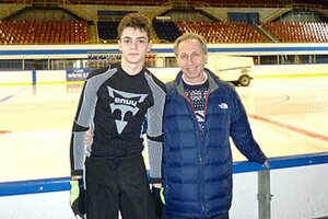 Simon Fukas s trénerom Vedeninom v Gdaňsku.