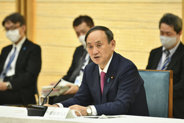 Japonský premiér Jošihide Suga.