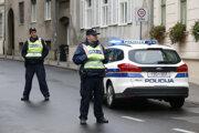 Chorvátska policajná hliadka.