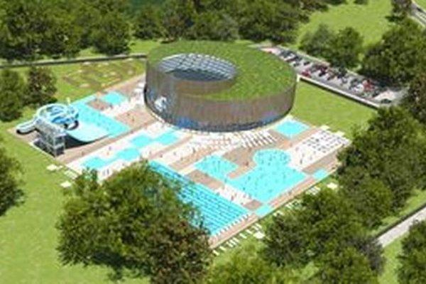Takto má vyzerať akvapark v areáli kúpaliska.