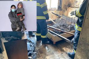 Mladej rodine po požiari nezostali nič, akurát to, čo mali v tej chvíli na sebe.
