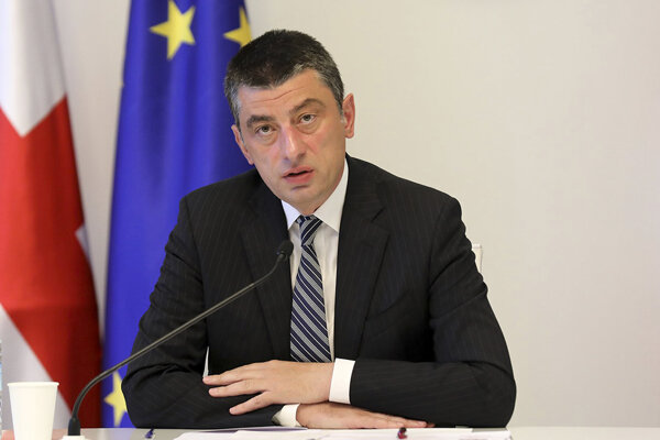 Premiér Giorgi Gakharia.