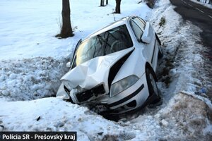 Vodiča po nehode jednorázovo ošetrili.