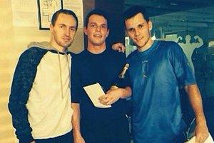Trojica najlepších hráčov.