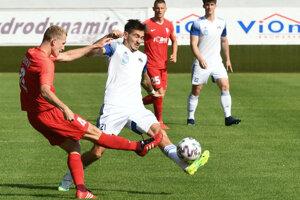Momentka zo zápasu Sereď - Nitra.