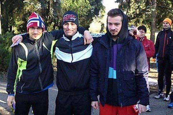 Najlepší traja v kategórii mužov do 39 rokov - zľava René Malý, Michal Kulich a Jakub Haluza.