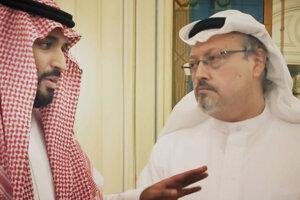 Saudskoarabský korunný princ Muhammad bin Salmán a Džamál Chášukdží.