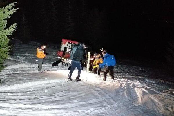 Záchrana turistu na Babej hore.