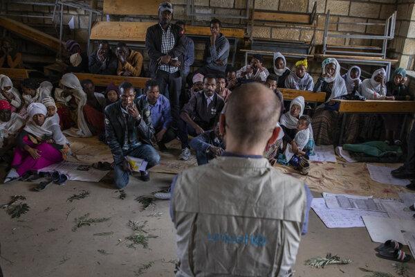Riaditeľ UNICEF v Adigrat Town