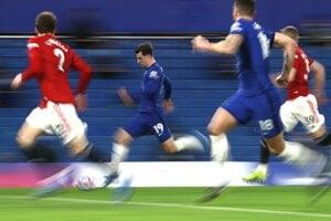 Momentka zo zápasu Chelsea - Manchester United.