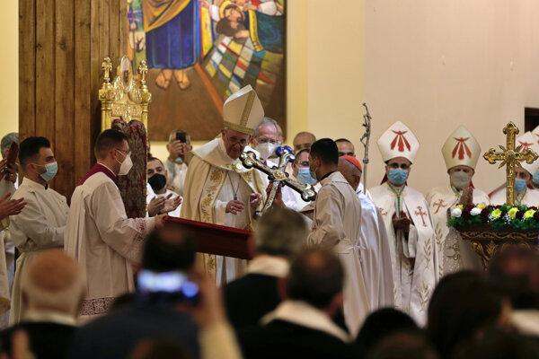 Eucharistická slávnosť v Kostole sv. Jozefa bola slávená podľa chaldejského obradu.