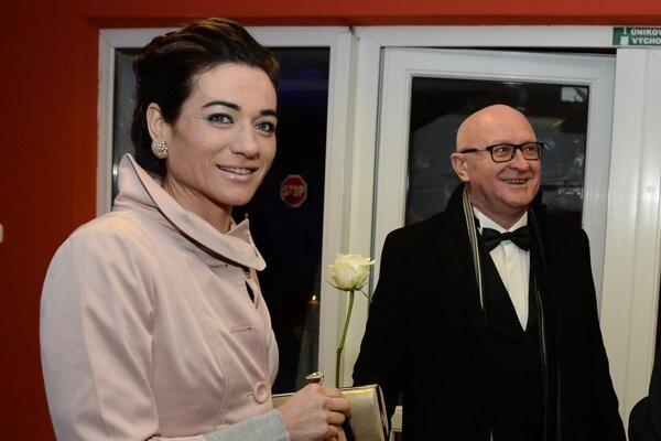 Dagmar  Tóthová Skačanová s manželom, primátorom mesta Vráble, Tiborom Tóthom.