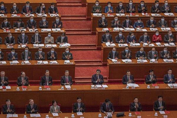 Zasadnutie Celočínskeho zhromaždenia ľudových zástupcov.