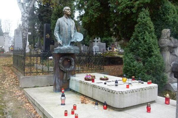 Na Národnom cintoríne v Martine je pochovaný aj akademický maliar Martin Benka.