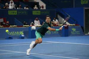 Roger Federer pri návrate.