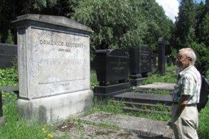 Hrob Dominika Skuteckého na židovskom cintoríne v Banskej Bystrici