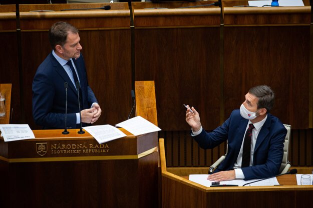 23. júl 2020. Mimoriadna schôdza k odvolávaniu predsedu vlády Igora Matoviča.