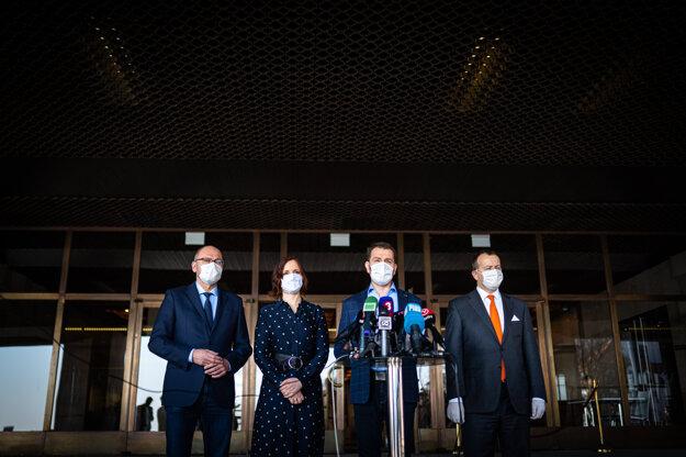 18. marec 2020. Predstavenie mien členov novej vlády.