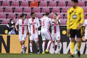 Ondrej Duda sa teší z gólu, ktorý strelil za 1. FC Kolín.