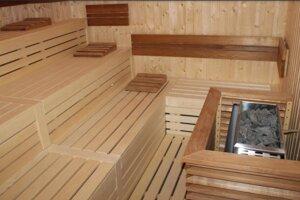 Súčasťou plavárne je saunový svet s oddychovou miestnosťou a ochladzovacím bazénom.