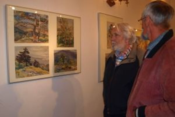 Obrazy s motívom prírodných scenérií Zobora. Výstava v synagóge potrvá do konce augusta.
