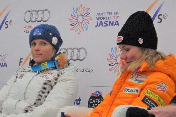 Dve veľké súperky, ale aj kamarátky. Veronika Velez-Zuzulová aMikaela Shiffrinová.