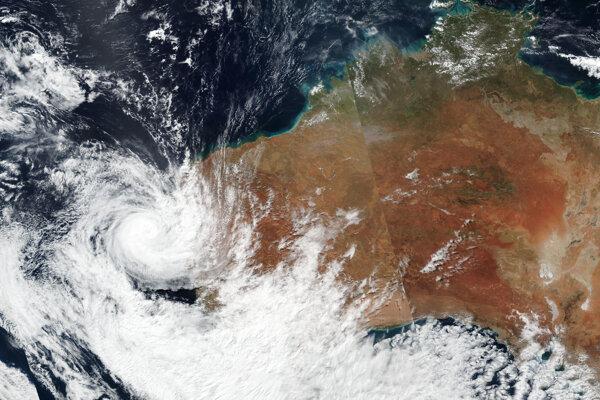 Cyklón Seroja nad Západnou Austráliou.