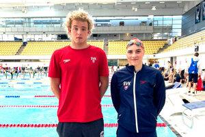 Tomáš Peciar a Martina Cibulková zo slovenskej plaveckej reprezentácie.