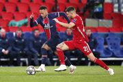 Momentka zo zápasu Paríž St. Germain - Bayern Mníchov.