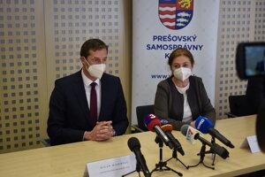 Predseda PSK Milan Majerský a primátorka mesta Prešov Andrea Turčanová (KDH).