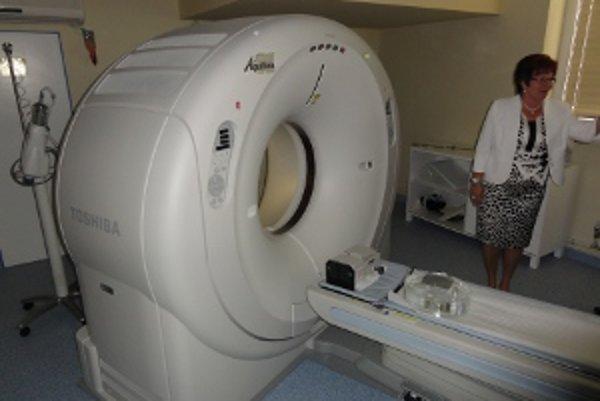 Riaditeľka Marta Eckhardtová očakáva, že si nové CT na seba zarobí.