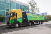 Na Slovensko prišiel prvý ekologický kamión na bionaftu.