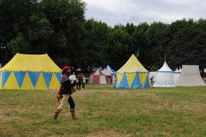 Historický tábor v Parku študentov z roku 2014.