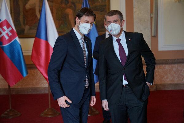Český a slovenský premiér na spoločnom stretnutí.