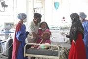 Covid oddelenie v nemocnici v indickom štáte Maháraštra.