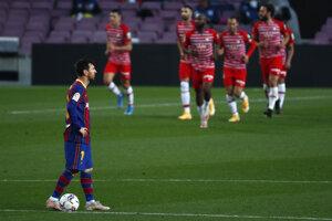 Lionel Messi v zápase proti Granade.