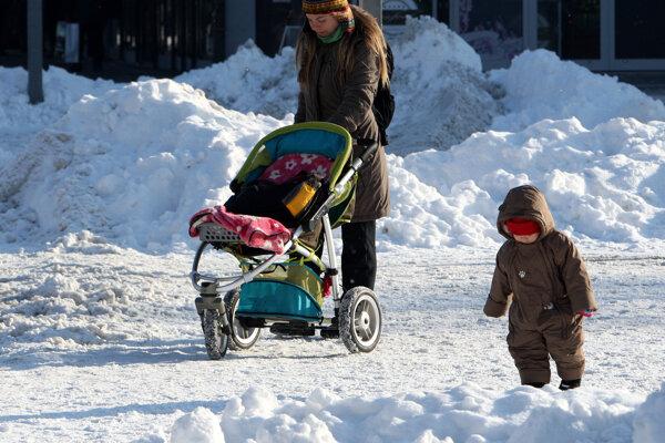 Zima na zvolenskom námestí.